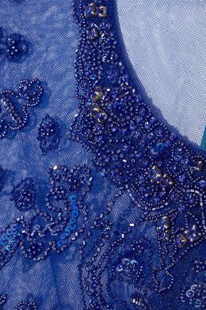 ZUHAIR MURAD Kanshou embellished silk-blend tulle mini dress