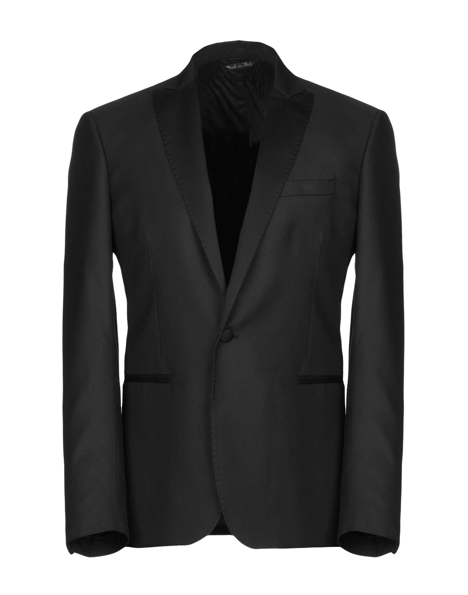 《期間限定セール中》G.B. CENERE メンズ テーラードジャケット ブラック 52 レーヨン 56% / ポリエステル 44%