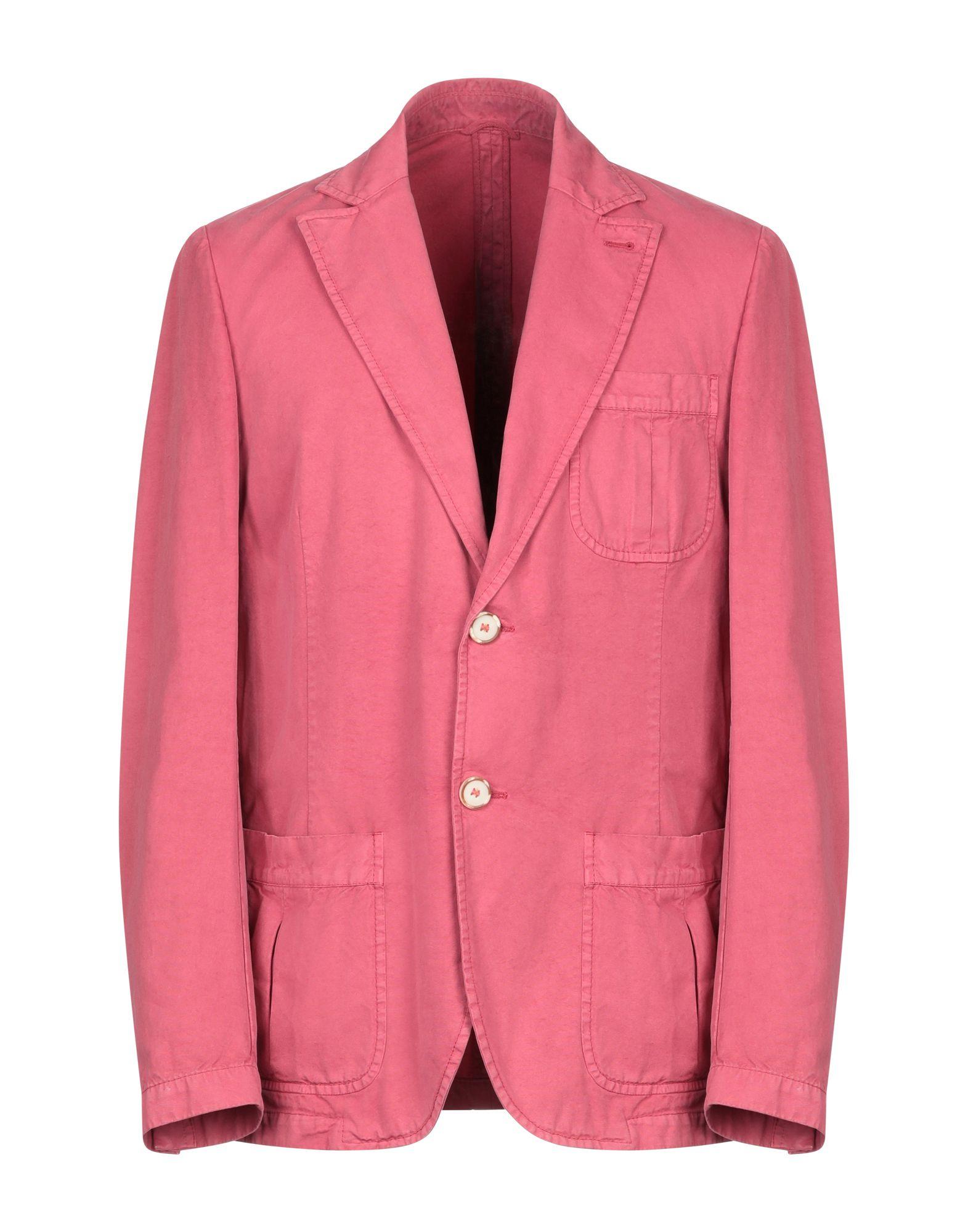 《期間限定 セール開催中》ENZO FUSCO メンズ テーラードジャケット コーラル 52 コットン 100%