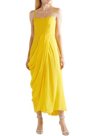 CAROLINA HERRERA Wrap-effect silk-georgette midi dress