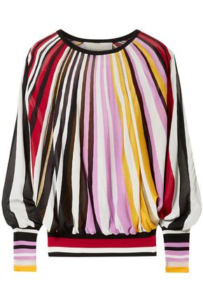 CAROLINA HERRERA Striped knitted sweater