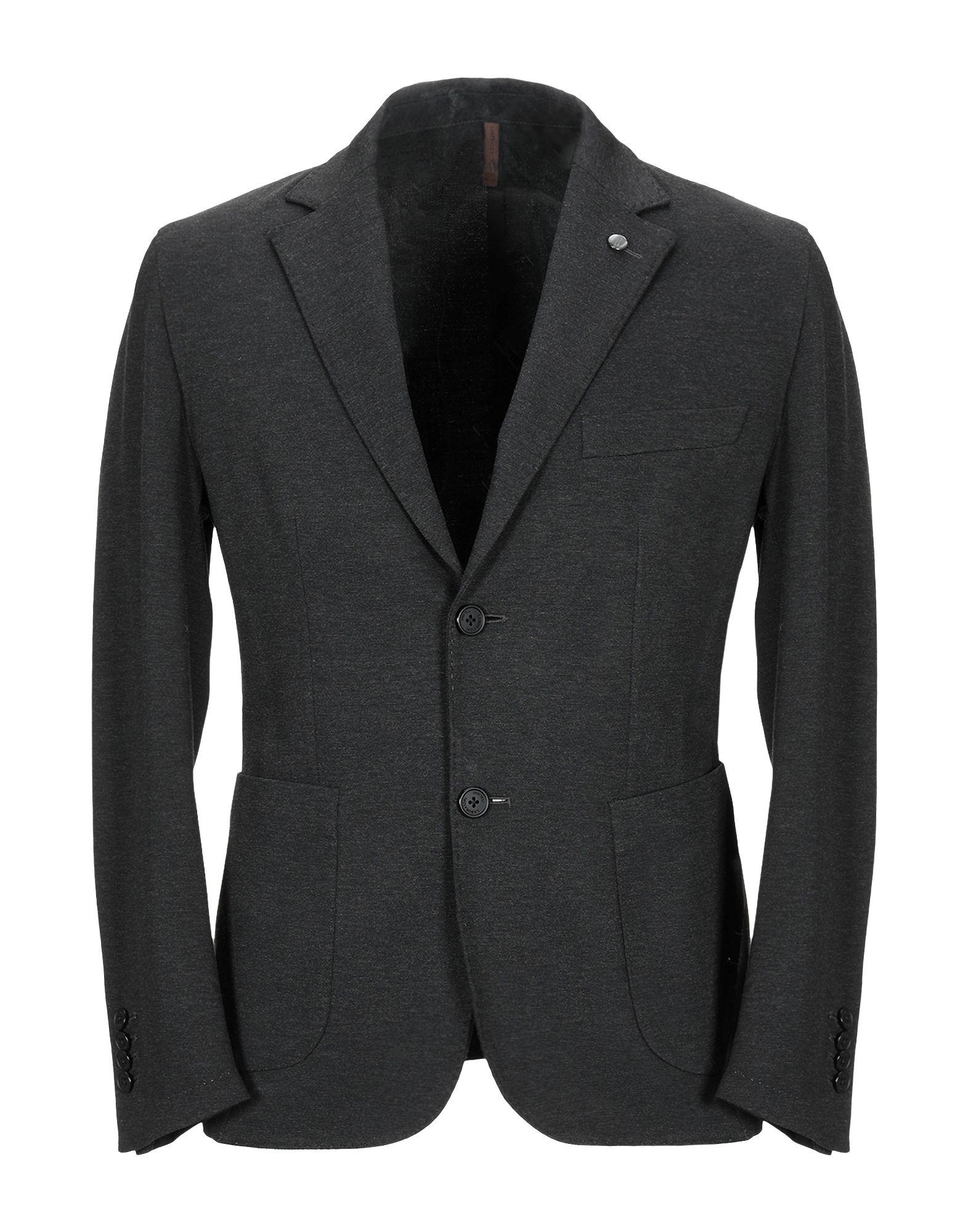 《期間限定セール中》LABORATORI ITALIANI メンズ テーラードジャケット スチールグレー 46 レーヨン 68% / ナイロン 27% / ポリウレタン 5%