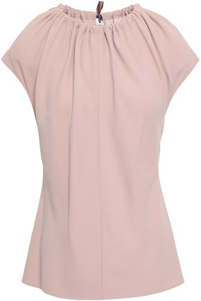 DIANE VON FURSTENBERG Gathered crepe top
