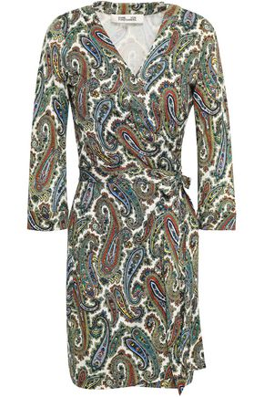 DIANE VON FURSTENBERG Julian stretch-silk mini wrap dress