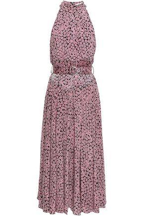 DIANE VON FURSTENBERG Belted floral-print silk crepe de chine midi dress