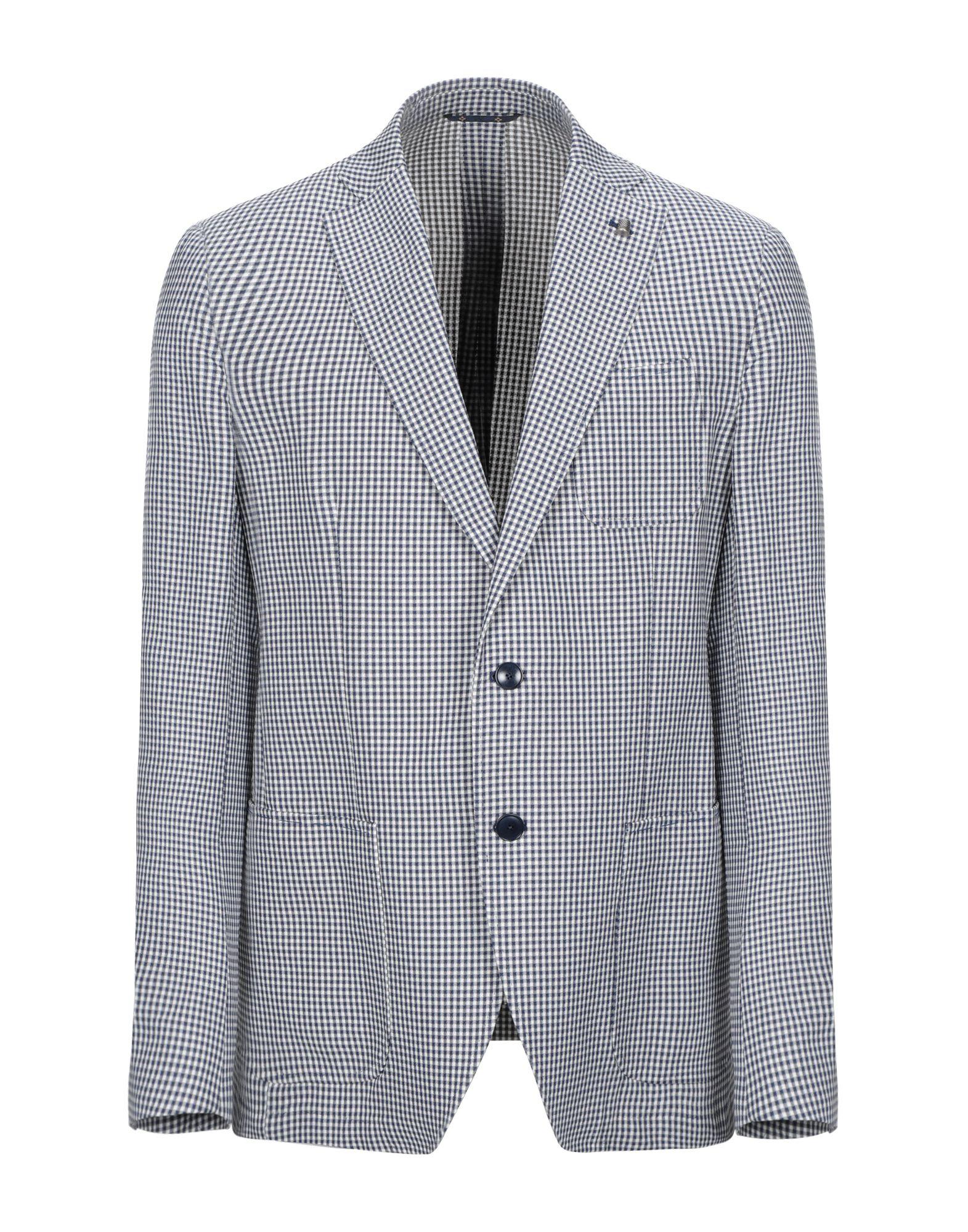 《送料無料》SARTORIA LATORRE メンズ テーラードジャケット ブルー 52 コットン 100%
