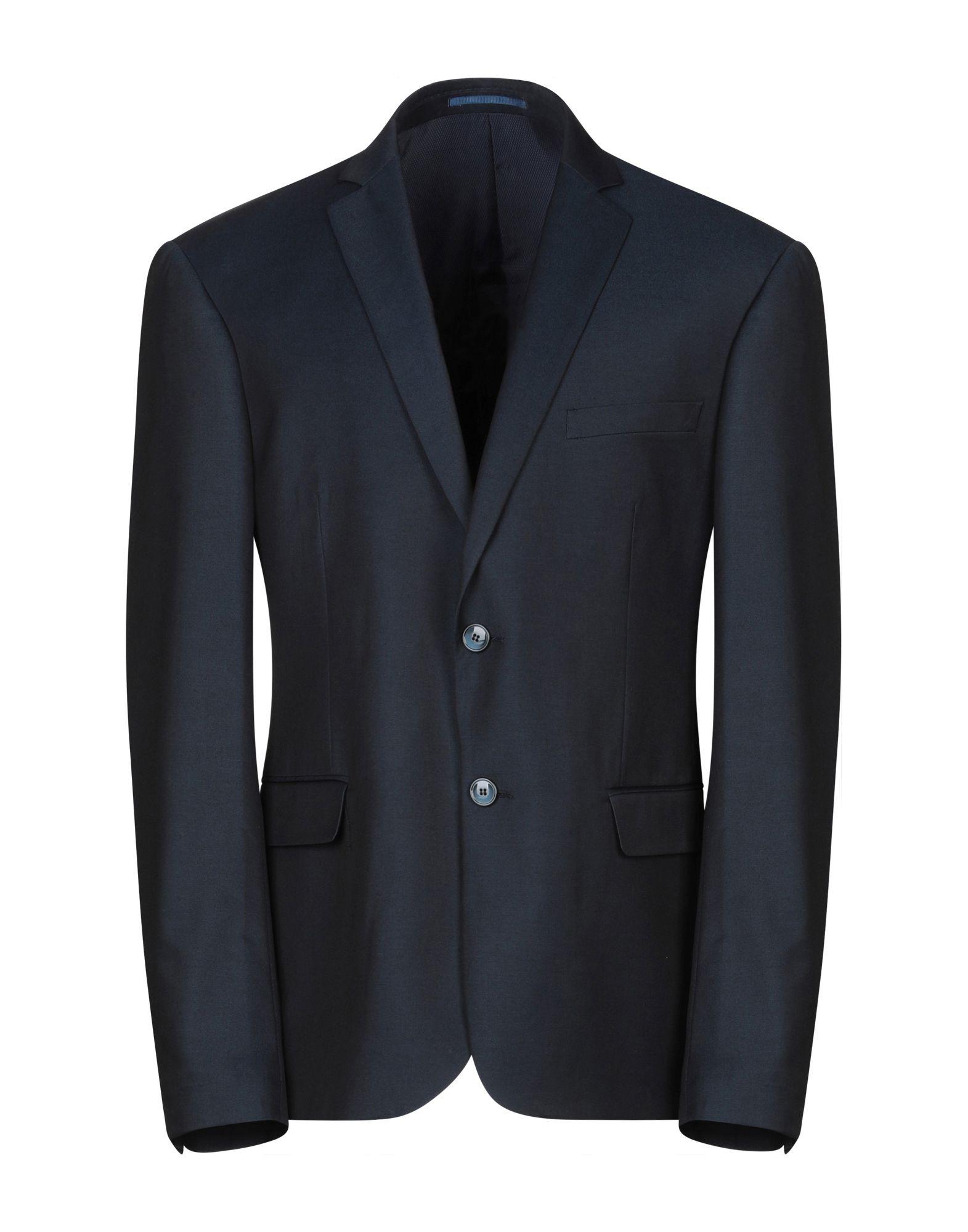 《期間限定セール中》DAVID NAMAN メンズ テーラードジャケット ダークブルー 54 ポリエステル 81% / レーヨン 17% / ポリウレタン 2%