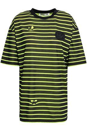 McQ Alexander McQueen Neon appliquéd printed jersey T-shirt