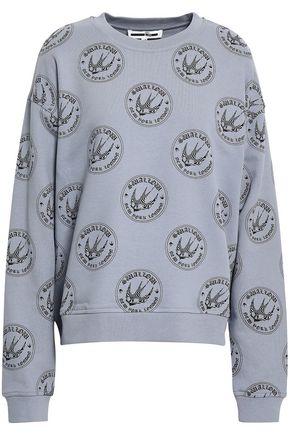 McQ Alexander McQueen Printed French cotton-terry sweatshirt