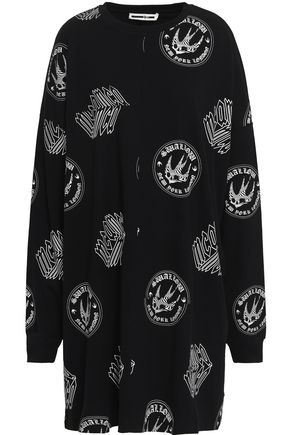 McQ Alexander McQueen Printed French cotton-terry mini dress