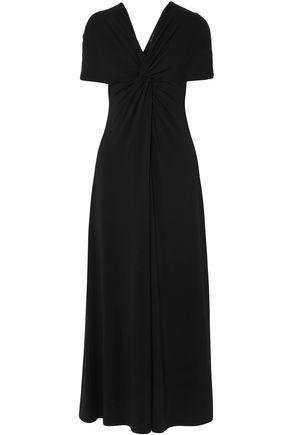 SID NEIGUM Twist-front stretch-knit maxi dress