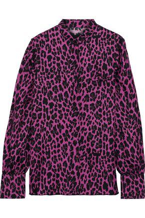 RTA Yvonne leopard-print silk-twill blouse