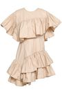3.1 PHILLIP LIM Asymmetric ruffled cotton-poplin mini dress