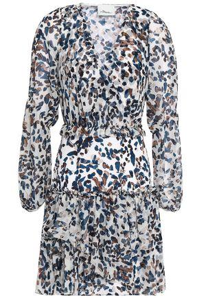 3.1 PHILLIP LIM Wrap-effect printed silk-chiffon mini dress