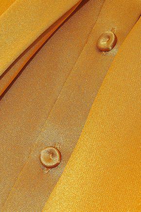 ADAM LIPPES Tie-neck silk-satin top