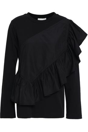 3.1 PHILLIP LIM Ruffled cotton-jersey and poplin top