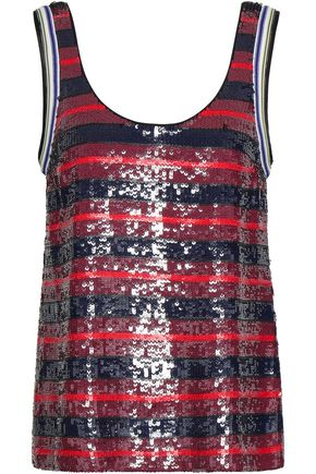 3.1 PHILLIP LIM Sequined striped silk-georgette tank