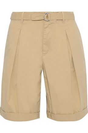 FILIPPA K Madison belted stretch-cotton twill shorts