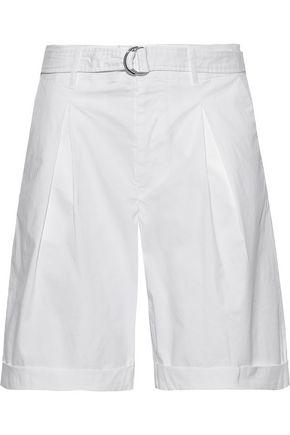 FILIPPA K Madison belted stretch-cotton twill shorts