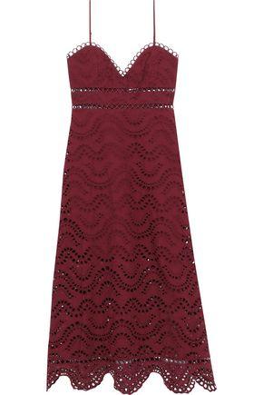 ZIMMERMANN Jaya Wave broderie anglaise cotton midi dress