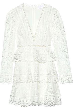 ZIMMERMANN Bayou Swirl tiered broderie anglaise cotton mini dress