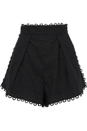 ZIMMERMANN Floral-print linen and cotton-blend shorts