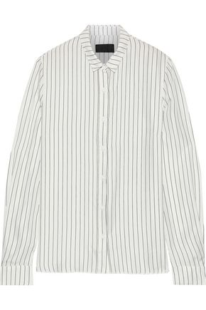 RTA Striped silk-twill shirt
