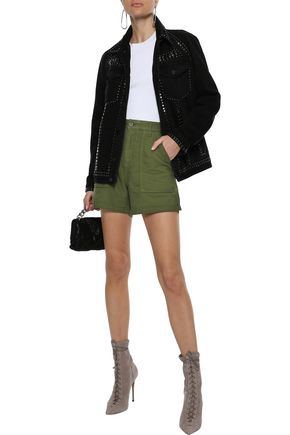 RTA Vendetta cotton-twill shorts