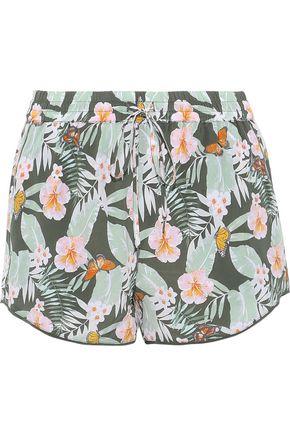 JOIE Sabia floral-print silk crepe de chine shorts