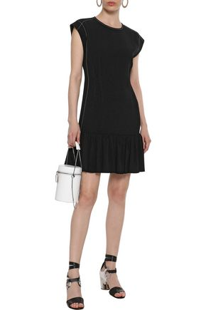 DEREK LAM 10 CROSBY Ruffle-trimmed crepe mini dress