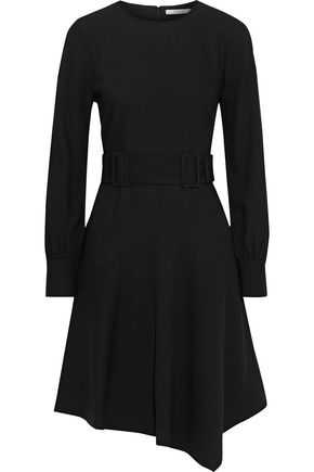 DEREK LAM 10 CROSBY Asymmetric draped crepe mini dress