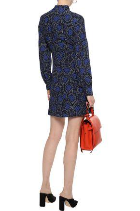 DEREK LAM 10 CROSBY Floral-print silk-georgette mini dress