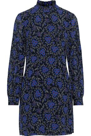 DEREK LAM 10 CROSBY Floral-print silk-georgette mini dress