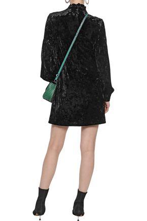 DEREK LAM 10 CROSBY Crushed stretch-velvet mini dress