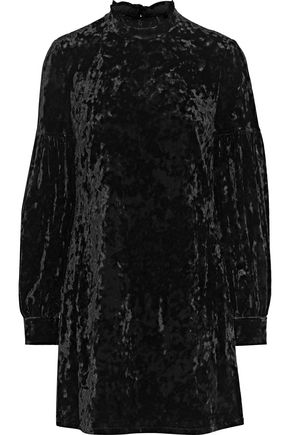 DEREK LAM 10 CROSBY Crushed stretch-velvet mini dress