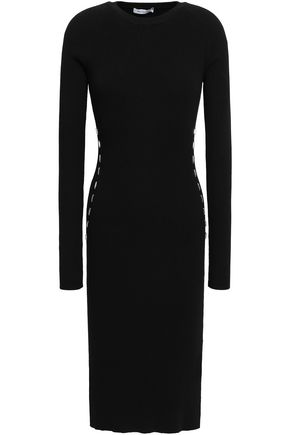 MUGLER Embellished ribbed-knit dress