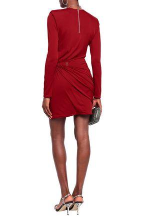 MUGLER Ruched jersey mini dress