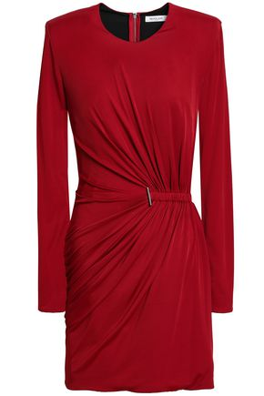 MUGLER Ruched jersey mini dress