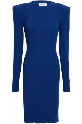 MUGLER Ribbed-knit dress