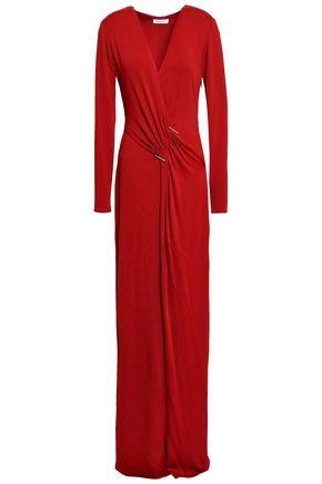 MUGLER Gathered jersey gown