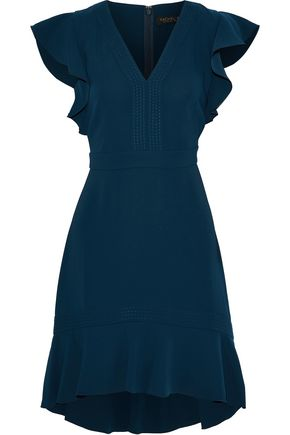 RACHEL ZOE Uma ruffle-trimmed crepe mini dress