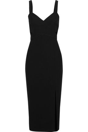 RACHEL ZOE Anne cutout twill midi dress