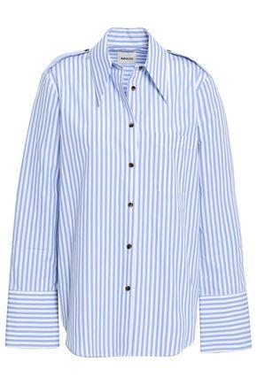 KHAITE Diana cotton-poplin shirt