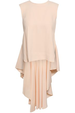 KHAITE Daryl draped linen-blend top