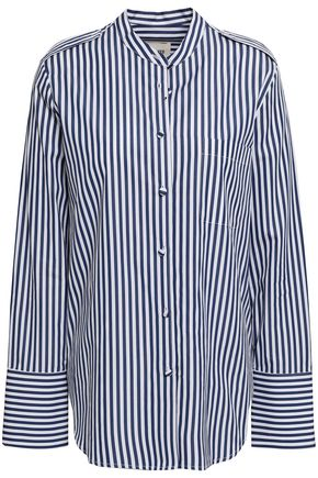 KHAITE Katarina striped cotton-poplin shirt