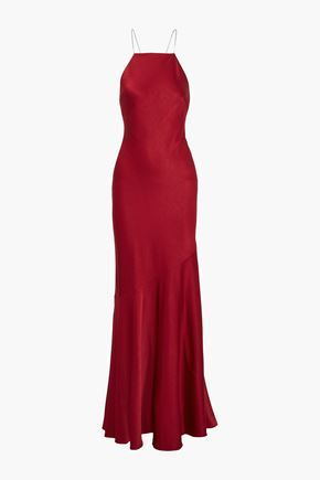RACHEL ZOE Jaclyn open-back crystal-embellished satin gown