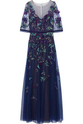11dac97f Floral-appliquéd embellished tulle gown | MARCHESA NOTTE | Sale up ...