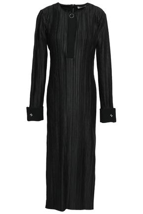 MUGLER Plissé-crepe midi dress