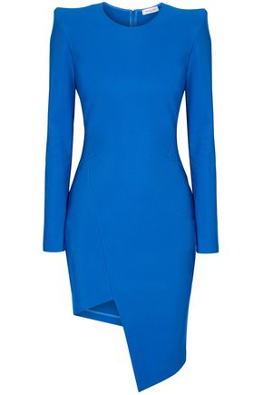 MUGLER Asymmetric stretch-knit mini dress