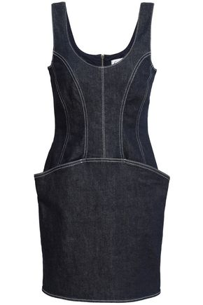 MUGLER Denim mini dress